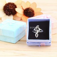 Wholesale pc Unique Hollow Out Musical Notes Rings For Women And Men Jewelry With Box