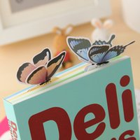 Wholesale 2015 hot Sweet New cartoon butterfly Bookmarks Book marks Office School Paper clip best quality free ship