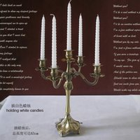 metal candle stand - H43 cm light bronze candelabr2020a metal candle stand holder candle stick for wedding home decoration