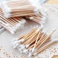 Wholesale 40pcs set High Quality Double Head Health Makeup Cosmetics Ear Clean Jewelry Clean Cotton Swab Cotton Buds
