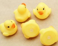 Wholesale Water toys learn counting Children s toys Baby Bath Water Toy toys contributor Yellow Rubber Ducks Kids Bathe Children Swiming