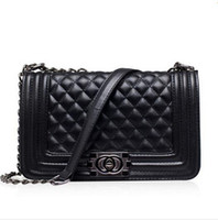 quilted handbags - 2017 Famous Designers Women s Quilted Double Flaps Lambskin Handbag PU Leather Shoulder bag messenger Bag Crossbody Bags