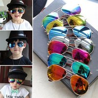 Oval baby boy silver frames - Hot Design Children Girls Boys Sunglasses Kids Beach Supplies UV Protective Eyewear Baby Fashion Sunshades Glasses DCBF37