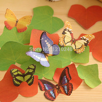 Wholesale New Sticky Notes Butterfly Shape Post It Notes Bookmark Marker Memo Index Flags Album Photos Diary Home Decor