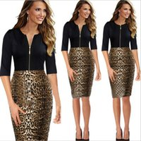 Cheap Pregnancy Special Offer 2015 The Spring And Autumn Period New Dress Leopard for Grain Sexy Stitching Party Dresses for Womens Women Clothes