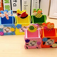 Wholesale 1PCS NEW Wooden Pen holders Cute Animal Pattern Table Decoration Variety of Optional