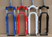forks - Bike Forks Mountain Bike Fork Cycling Bicycle Parts In Aluminum Black White Red Blue Colors To Choose