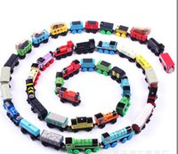 Wholesale TRAIN CAR OF wooden Complete set of car toy train toys