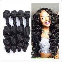 Wholesale Peruvian Loose Wave A Unprocessed Peruvian Virgin Hair Loose Curly Top Quality Peruvian Human Hair Weave Bundles