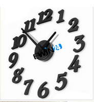 Wholesale Adhesive Wall Clock DIY Mordern Interior Design Bedroom Decoration Good Quality Hot Selling Easy To Carry