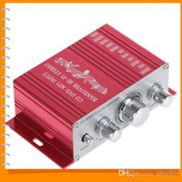 Wholesale Cheapest Handover Hi Fi V Mini Auto Car Amplifier Stereo Audio Amplifier Support CD DVD MP3 Input for Motorcycle Boat Home A5