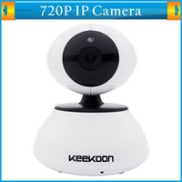Wholesale 720P Megapixels Wireless HD IP Camera P2P WiFi Webcam TF Card Slot Night Vision Dual Audio Pan Tilt Motion Detection Mini Network Camera