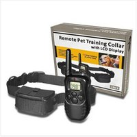 Wholesale 500pcs CCA1994 High Quality Pet Trainer meter Electronic Shock Vibra LCD Display Remote Control Pet Dog Training Collar For Dog
