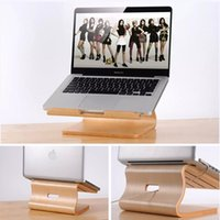Wholesale Real Wood Laptop Stand Holder Notebook Radiator for Macbook Air Pro Retina Original Samdi Wooden Bracket
