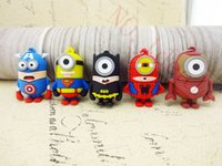 batman pendrive - 2015 Cartoon minions Captain America superman batman USB GB GB GB usb flash drive super hero pendrive thumb drive