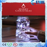 Wholesale 2M Leds Waterproof LED Copper Wire String Lights for Christmas party decoration with coin battery powered A