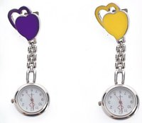 Wholesale Chest Pocket Watch Nurse Table Warm Sweet Heart Quartz with Clip cute quartz watch Unisex Design Doctor Nurse Watch
