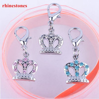Wholesale Personalized Dog Accessories Rhinestone Crown Jewelry Universal Collar Charm Pet Products For Dogs
