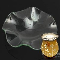 Wholesale Glass Fragrance Essential Oil Burners Dish Aromatherapy Scent Lamp Tray
