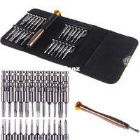 Wholesale 25 In Cell Phones Screen Opening Pry Repair Screwdrivers Tool Set Kit Metal Spudger for iPhones