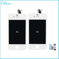iphone 4 repair kit - 1pcs LCD Display For iPhone iphone s GSM CDMA with Touch Screen Digitizer Replacement Free Repair Tool Kits