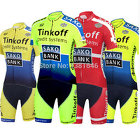 Wholesale NEW new SAXO BANK Sportswear Mountain Bike Ropa Ciclismo MTB Bicycle Wear Cycling Jersey clothing sets