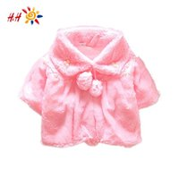 Wholesale New Baby Girls Coral Velvet Cloak Smocks Soft Outerwear Coat Cloak Jumpers Mantle Children s Clothing Jackets Poncho Cape