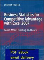 advantage competitive - Business Statistics for Competitive Advantage with Excel Basics Model Building and Cases