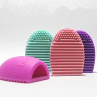 Wholesale Brush Egg Cosmetic Brushes Cleaning Gloves Ball Makeup Remover Health Beauty antibiotic white Pink Violet purple red black Light green