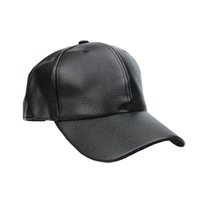 Wholesale S5Q PU Leather Baseball Cap Outdoor Sports Spring Hats For Men And Women Hats AAAFUO