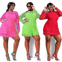 plus size clubwear - 2015 Womens Sexy Lace Clubwear Bodycon Party Playsuit Jumpsuit Romper dress Plus Size