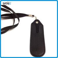 lanyard string - eGo E Cigarette Bag Necklace String PU Leather Lanyard Carrying Pouch Pocket Neck Sling Rope Round Corner Case Bag for Ego E Cigarette