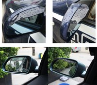 Wholesale Car universal Rrain Shield Flexible Peucine Car Rear Mirror Guard Rearview mirror Rain Shade car styling