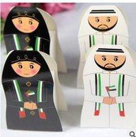 arab sweets - UAE wedding favor box Arab Bride and groom Candy Box Favor Gift Boxes Arabic sweet chocolate box