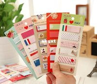 Wholesale New Cartoon Animals Mini Sticker Post It Bookmarker Memo Pad Flags Sticky Notes G681