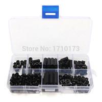 Wholesale New Arrival Durable M3 Nylon Black M F Hex Spacers Screw Nut Assortment Kit Stand off Set Hot Sale