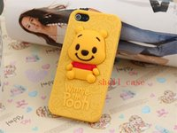 winnie the pooh s4 - 3D Cute Stitch Little Green Man Winnie the Pooh Soft Silicone Case for iPhone S S Samsung Galaxy S3 S4 NOTE2 NOTE3 I9300 I9500 N7100