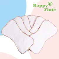 Wholesale Happy Flute bamboo cotton inserts nappy super soft liner pieces