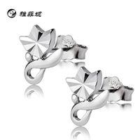 Wholesale Yafei Ni cars flowers roses Korea lovely earrings s925 Sterling silver jewelry hypoallergenic ear