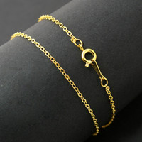 Wholesale 50pcs Jewelry Findings Chain Necklace cm Length Copper Material Plated Gold Silver Rhodium Links Chains Fit Charm Pendants DH FLA008