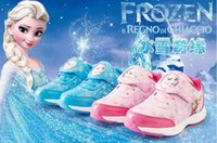 Wholesale 2016 FROZEN Girls Shoe sneaker loafer princess shoes Snow Children s shoe running shoes PU SIZE gift DHL
