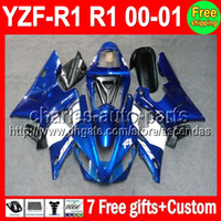 For Yamaha abs body kits - 7gifts Factory blue Body For YAMAHA YZFR1 YZF R1 YZF1000 C L640 Hot Blue black YZF YZF R1 R Fairing Kit On sale
