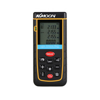 Wholesale KKMOON Rangefinder m ft Digital Laser Distance Meter Range Finder Measure Area Volume Self calibration Level Bubble order lt no track