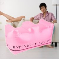 Wholesale 2015 Cute Pink Inflatable Travel Foot Rest Footrest Pillow For Home And Travel Brand New