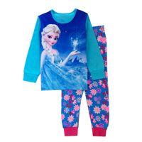 Wholesale Factory cheap price Latest girls frozen clothes elsa anna children pajamas baby girl s sleepwear kids nightsuits housewear