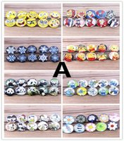 american press - Hot DIY Noosa Glass cartoon figure cross Buttons Interchangeable Jewelry Accessories press studs Ginger Snap button for real bracelet
