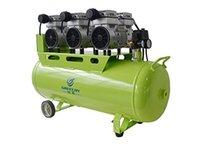 Silenciosa Oil Free Oilless <b>Air Compressor</b> 90L Tanque 2400W 465L / min GA-83 One By Três para Cadeira Dental