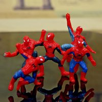Wholesale Spiderman Toy Figures Spiderman PVC Action Figures Super Hero Marvel Spiderman Toys Kids Christmas gift