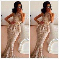 Cheap High-Neck Evening Dresses Best Mermaid Evening Dresses