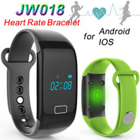 Wholesale JW018 Smart Wristbands Heart Rate Touch Bracelet Bluetooth Passometer Sports Fitness Tracker for iPhone Andriod Phone Wristband